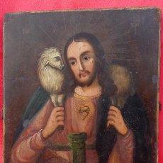 Arte: ÓLEO SOBRE TABLA, AGNUS DEI -CORDERO DE DIOS-. ESCUELA ITALIANA S. XVI. DIM.- 29.750X22.250 CMS.. Lote 214509421