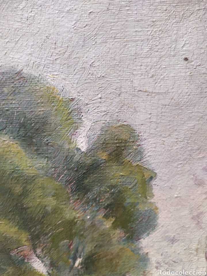 Arte: OLEO CON MARCO DORADO. PINTURA CATALANA - Foto 3 - 214527661