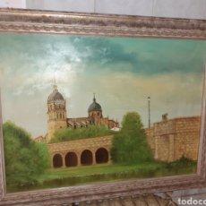 Arte: CUADRO OLEO SOBRE LIENZO , CATEDRAL DE SALAMANCA.FIRMADA.. Lote 214535083
