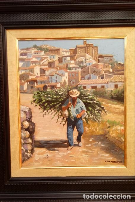 ÓLEO S/LIENZO DE VICENTE PIERNAGORDA -PAISAJE DEL ALTO ARAGÓN-. FECHADO EN 1979. DIM.-71X63,5 CMS. (Arte - Pintura - Pintura al Óleo Contemporánea )