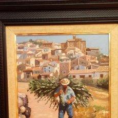 Arte: ÓLEO S/LIENZO DE VICENTE PIERNAGORDA -PAISAJE DEL ALTO ARAGÓN-. FECHADO EN 1979. DIM.-71X63,5 CMS.. Lote 214545420