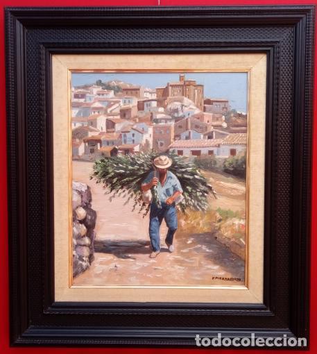 Arte: ÓLEO S/LIENZO DE VICENTE PIERNAGORDA -PAISAJE DEL ALTO ARAGÓN-. FECHADO EN 1979. DIM.-71X63,5 CMS. - Foto 2 - 214545420