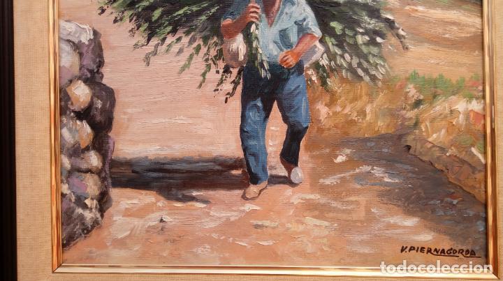 Arte: ÓLEO S/LIENZO DE VICENTE PIERNAGORDA -PAISAJE DEL ALTO ARAGÓN-. FECHADO EN 1979. DIM.-71X63,5 CMS. - Foto 3 - 214545420