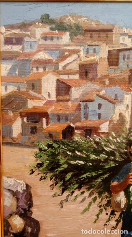 Arte: ÓLEO S/LIENZO DE VICENTE PIERNAGORDA -PAISAJE DEL ALTO ARAGÓN-. FECHADO EN 1979. DIM.-71X63,5 CMS. - Foto 7 - 214545420