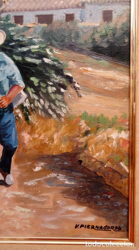 Arte: ÓLEO S/LIENZO DE VICENTE PIERNAGORDA -PAISAJE DEL ALTO ARAGÓN-. FECHADO EN 1979. DIM.-71X63,5 CMS. - Foto 11 - 214545420