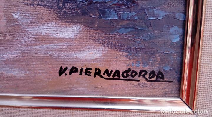 Arte: ÓLEO S/LIENZO DE VICENTE PIERNAGORDA -PAISAJE DEL ALTO ARAGÓN-. FECHADO EN 1979. DIM.-71X63,5 CMS. - Foto 12 - 214545420