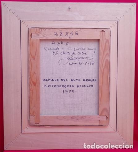 Arte: ÓLEO S/LIENZO DE VICENTE PIERNAGORDA -PAISAJE DEL ALTO ARAGÓN-. FECHADO EN 1979. DIM.-71X63,5 CMS. - Foto 13 - 214545420
