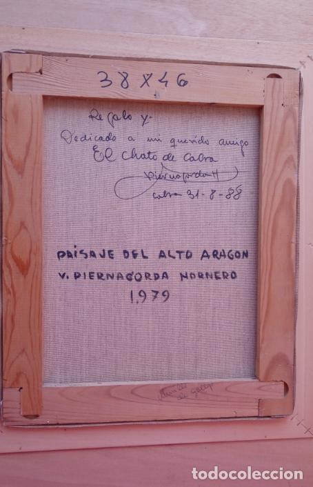 Arte: ÓLEO S/LIENZO DE VICENTE PIERNAGORDA -PAISAJE DEL ALTO ARAGÓN-. FECHADO EN 1979. DIM.-71X63,5 CMS. - Foto 14 - 214545420