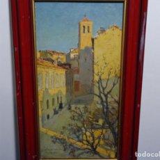 Arte: EXCELENTE ÓLEO DE ERNESTO GUTIERREZ HERNÁNDEZ (GRANADA 1873-MADRID 1934).PAISAJE URBANO MADRID ?. Lote 214572807