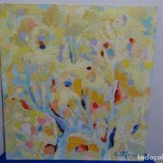 Arte: ÓLEO SOBRE TABLEX DE ROSA MARIA CORTAZAR.GRAN COLORIDO.. Lote 214573922