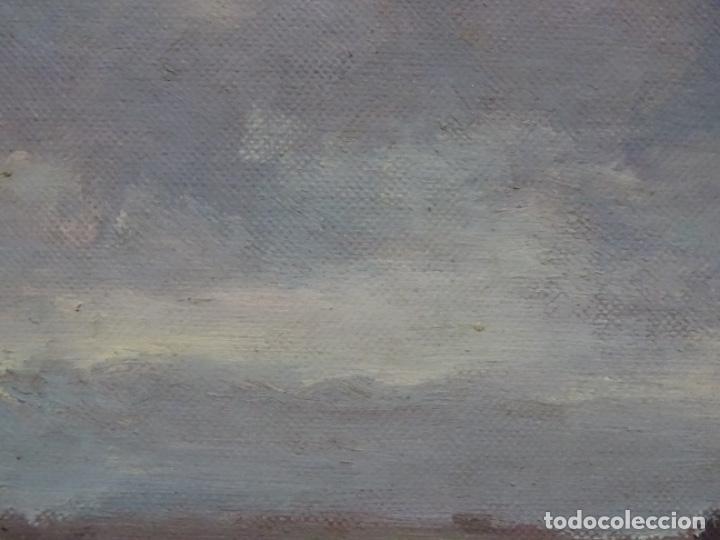 Arte: Óleo sobre tela pegado a tablex de escuela catalana. - Foto 4 - 214574320