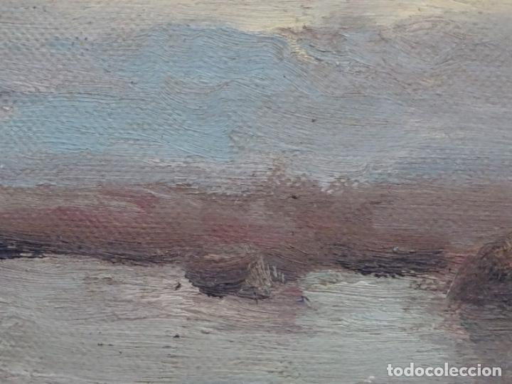 Arte: Óleo sobre tela pegado a tablex de escuela catalana. - Foto 6 - 214574320