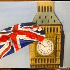 Arte: OLEO SOBRE LIENZO BIG BEN LONDRES - MEDIDA 46X38 CM. Lote 214661746