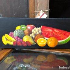 Arte: OLEO SOBRE LIENZO FIRMADO ANDRES - MEDIDA 60X20 CM. Lote 214662730