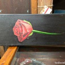 Arte: OLEO SOBRE LIENZO FIRMADO ANDRES - MEDIDA 50X20 CM. Lote 214730346