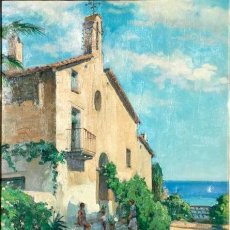 Arte: ÓLEO CON PAISAJE RURAL DEL PINTOR Y CARTELISTA JOSEP SOLIGÓ TENA ( BARCELONA 1910 – 1994). Lote 214743210