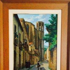 Arte: JOSEP SOLIGÓ TENA ( BARCELONA 1910 – 1994) ÓLEO DE TEMÁTICA PAISAJÍSTICA SOBRE LIENZO. Lote 214745603