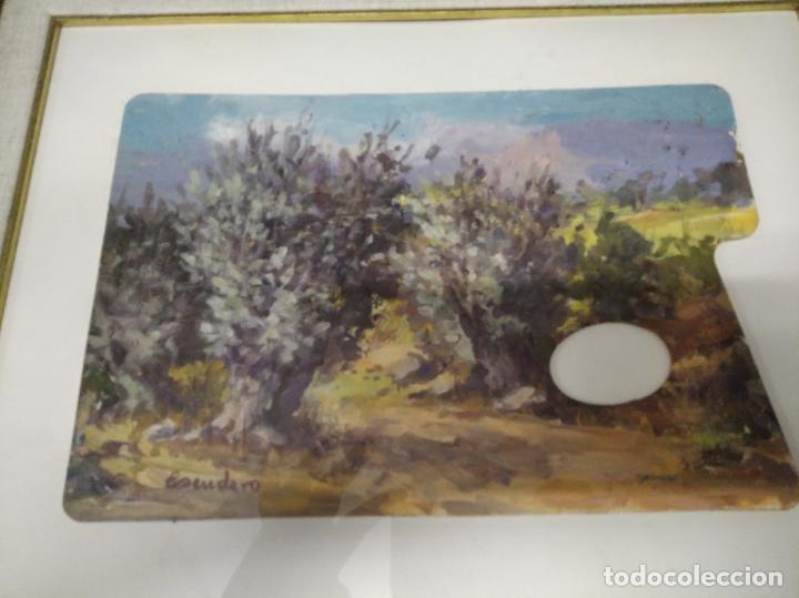 Arte: MAGNÍFICO ÓLEO EN TABLA DE OLIVOS DEL PINTOR MALLORQUÍN BASILIO ESCUDERO . 57 X 46 CM . MALLORCA - Foto 2 - 214770315