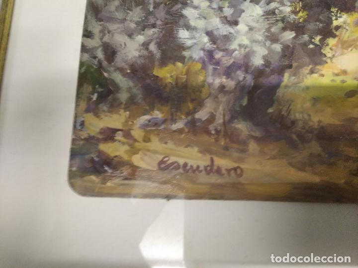 Arte: MAGNÍFICO ÓLEO EN TABLA DE OLIVOS DEL PINTOR MALLORQUÍN BASILIO ESCUDERO . 57 X 46 CM . MALLORCA - Foto 5 - 214770315