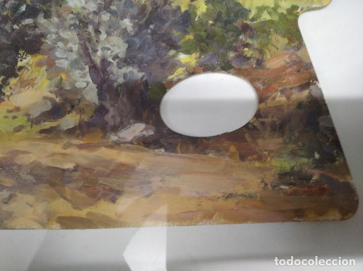 Arte: MAGNÍFICO ÓLEO EN TABLA DE OLIVOS DEL PINTOR MALLORQUÍN BASILIO ESCUDERO . 57 X 46 CM . MALLORCA - Foto 6 - 214770315