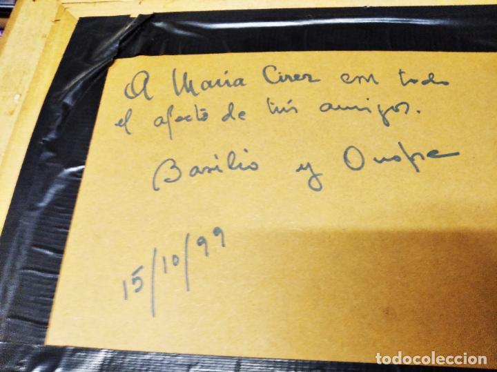 Arte: MAGNÍFICO ÓLEO EN TABLA DE OLIVOS DEL PINTOR MALLORQUÍN BASILIO ESCUDERO . 57 X 46 CM . MALLORCA - Foto 8 - 214770315