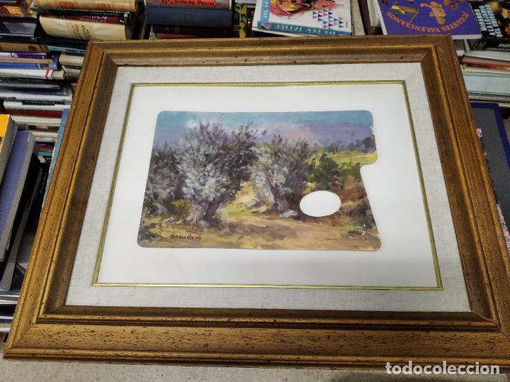 MAGNÍFICO ÓLEO EN TABLA DE OLIVOS DEL PINTOR MALLORQUÍN BASILIO ESCUDERO . 57 X 46 CM . MALLORCA (Arte - Pintura - Pintura al Óleo Contemporánea )