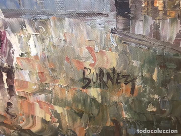 Arte: CUADRO Oleo sobre LIENZO ARCO TRIUNFO PARIS - Foto 2 - 135117270