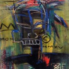 Art: RASTA C - ORIGINAL LIENZO 46X55 CMS - JUAN MANE CHECA (MOMO) EXPRESIONISMO CARIBEÑO ¡SUPEROFERTA!. Lote 214791952