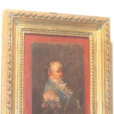 Arte: OLEO SOBRE TABLA COSTUMBRISTA DE LUCAS VELAQUEZ VILLAMIL S. XIX. Lote 214798636