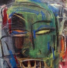 Art: TAFARAI- ORIGINAL LIENZO 28X35CMS JUAN MANE CHECA (MOMO) EXPRESIONISMO CARIBEÑO ¡SUPEROFERTA!. Lote 214802655