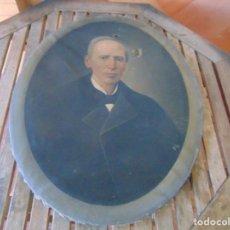 Arte: PINTURA OLEO SOBRE LIENZO RETRATO DE CABALLERO FIRMADO FRANCISCO TRISTAN 1876 SEVILLA RESTAURAR. Lote 214810467