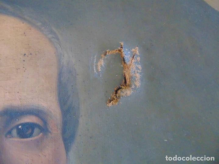 Arte: PINTURA OLEO SOBRE LIENZO RETRATO DE CABALLERO FIRMADO FRANCISCO TRISTAN 1876 SEVILLA RESTAURAR - Foto 3 - 214810467