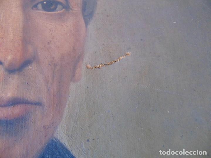 Arte: PINTURA OLEO SOBRE LIENZO RETRATO DE CABALLERO FIRMADO FRANCISCO TRISTAN 1876 SEVILLA RESTAURAR - Foto 4 - 214810467