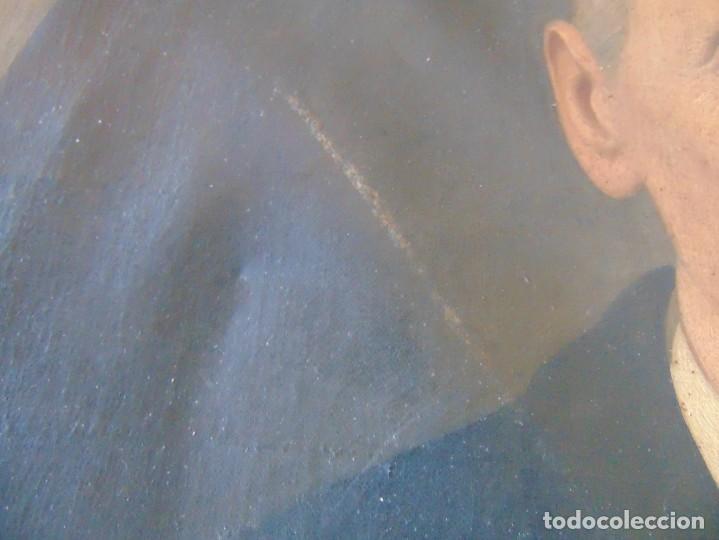 Arte: PINTURA OLEO SOBRE LIENZO RETRATO DE CABALLERO FIRMADO FRANCISCO TRISTAN 1876 SEVILLA RESTAURAR - Foto 6 - 214810467