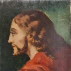 Arte: PERFIL DE JESUS OLEO SOBRE TABLEX SIN FIRMAR PP S XX. Lote 214813061