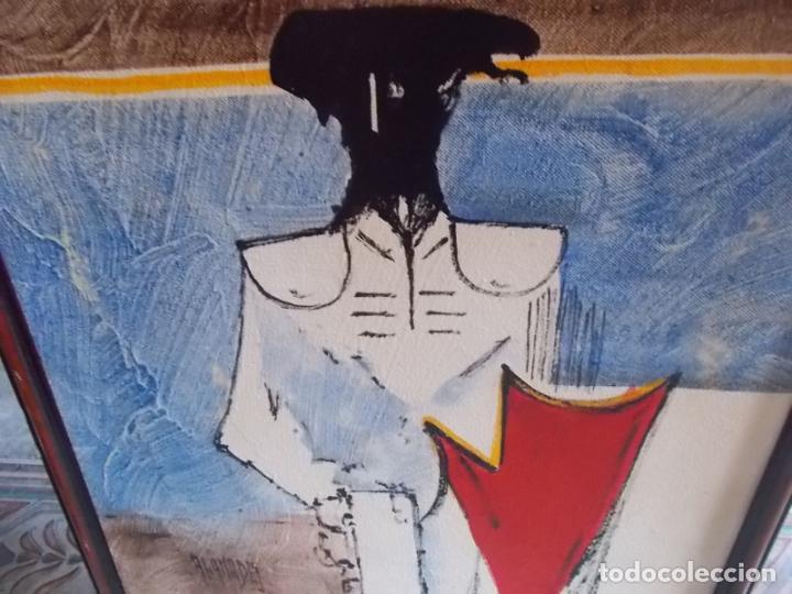 Arte: INTERESANTE PINTURA DE ABANADES PINTOR DE TORREMOLINOS AÑOS 60/70 ACRILICO SOBRE TABLEX - Foto 4 - 214848141