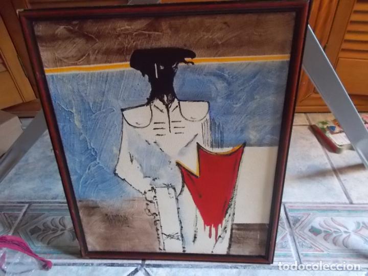 INTERESANTE PINTURA DE ABANADES PINTOR DE TORREMOLINOS AÑOS 60/70 ACRILICO SOBRE TABLEX (Arte - Pintura - Pintura al Óleo Contemporánea )