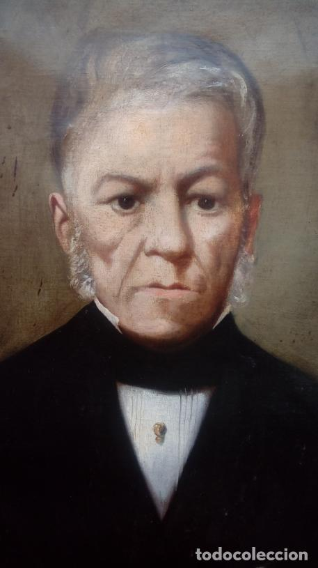 Arte: PAREJA DE RETRATOS ENMARCADOS, DEL S. XIX -CÍRCULO DE A. M. ESQUIVEL-.ÓLEO S/LIENZO. DIM.- 70X59 CMS - Foto 12 - 27147683