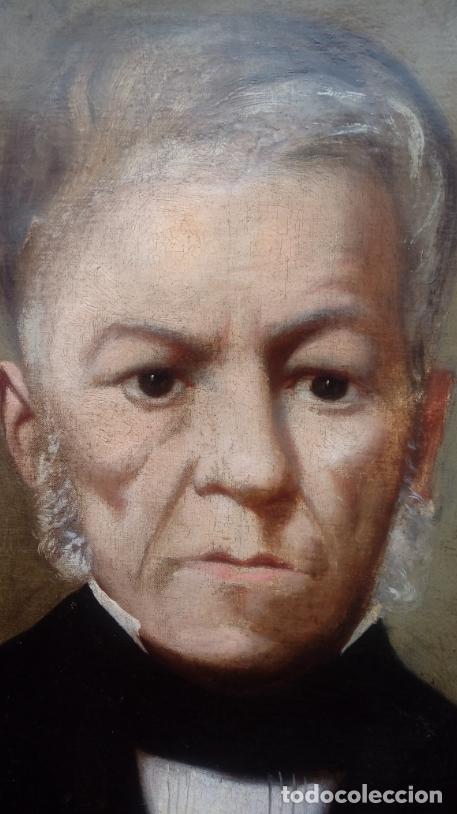 Arte: PAREJA DE RETRATOS ENMARCADOS, DEL S. XIX -CÍRCULO DE A. M. ESQUIVEL-.ÓLEO S/LIENZO. DIM.- 70X59 CMS - Foto 13 - 27147683