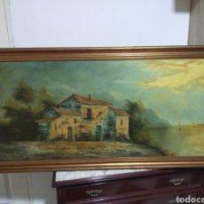 Arte: ANTIGUA GRAN PINTURA LIENZO FIRMADA DOMINGUEZ 142X72CM. Lote 214948616