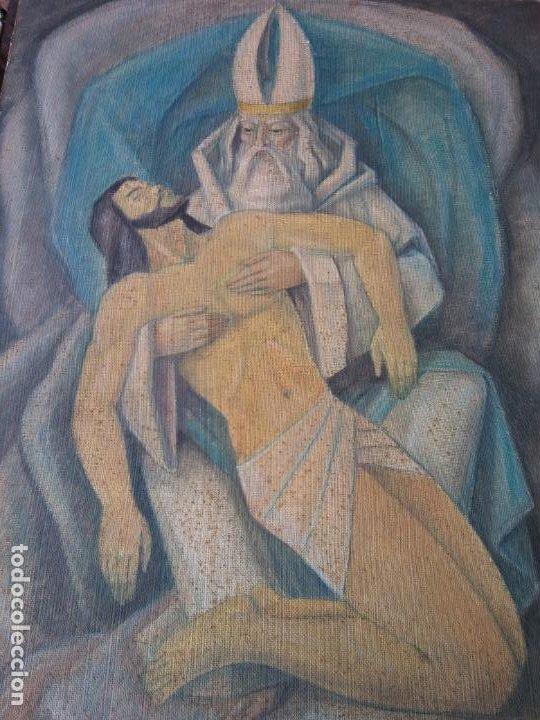 Arte: ORIGINAL. OBRA REALIZADA POR FRANCESC GASSÓ. JESÚS CAÍDO. MEDIDAS 61*76 CM - Foto 3 - 215002742