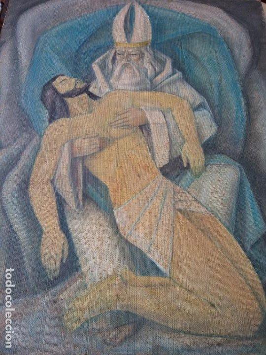 ORIGINAL. OBRA REALIZADA POR FRANCESC GASSÓ. JESÚS CAÍDO. MEDIDAS 61*76 CM (Arte - Pintura - Pintura al Óleo Contemporánea )