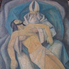 Arte: ORIGINAL. OBRA REALIZADA POR FRANCESC GASSÓ. JESÚS CAÍDO. MEDIDAS 61*76 CM. Lote 215002742