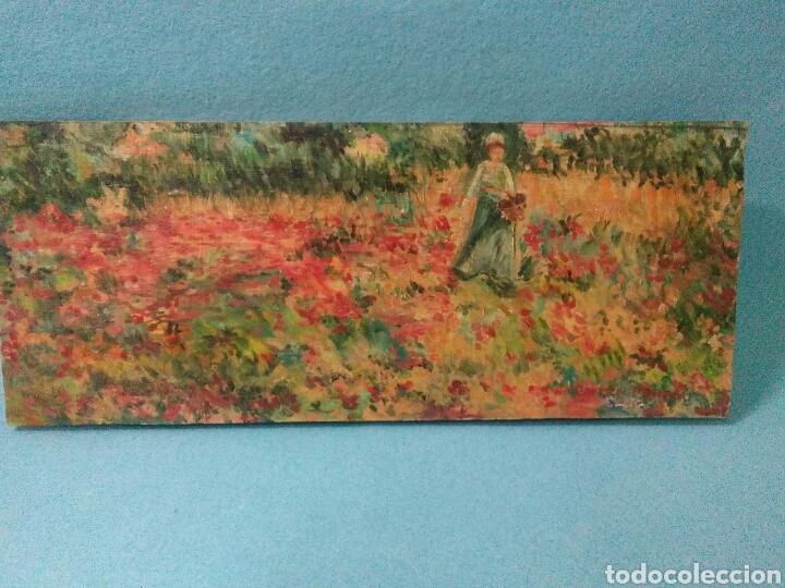 Arte: Pintura antigua oleo sobre tabla,paisaje impresinista - Foto 2 - 215023272