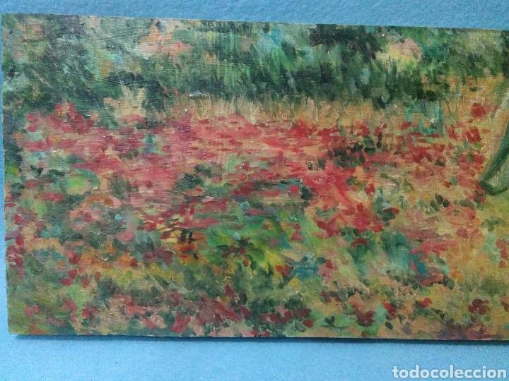 Arte: Pintura antigua oleo sobre tabla,paisaje impresinista - Foto 3 - 215023272