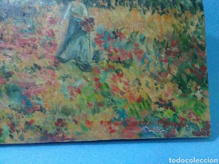 Arte: Pintura antigua oleo sobre tabla,paisaje impresinista - Foto 4 - 215023272