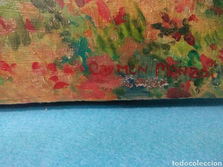 Arte: Pintura antigua oleo sobre tabla,paisaje impresinista - Foto 8 - 215023272