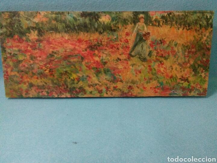 Arte: Pintura antigua oleo sobre tabla,paisaje impresinista - Foto 9 - 215023272