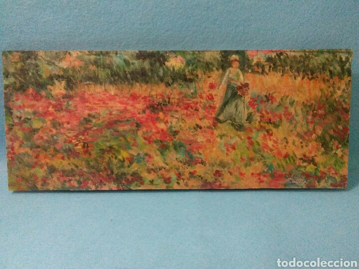Arte: Pintura antigua oleo sobre tabla,paisaje impresinista - Foto 10 - 215023272