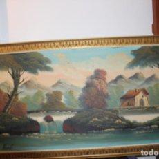 Arte: OLEO/LIENZO ENMARCADO SOBRE MARCO DE MADERA-140X70 CM-FIRMADO ALBERDI. Lote 215033308